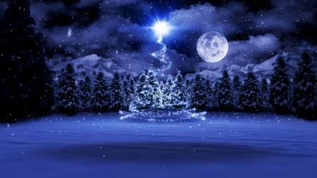 a magical night winter nature background wallpapers on. Black Bedroom Furniture Sets. Home Design Ideas