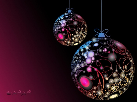 Christmas Ornaments Other Abstract Background Wallpapers