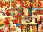 Many different Santas