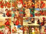 Many different Santas