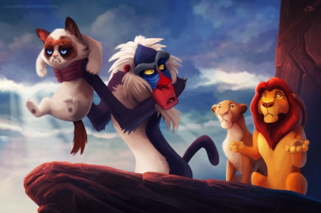 The Confused Lion King Funny Entertainment Background