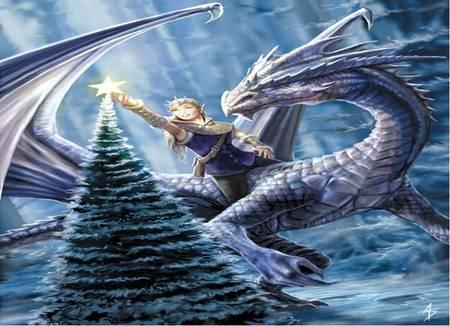 Christmas Dragon.Christmas Dragon Fantasy Abstract Background Wallpapers