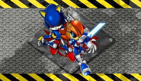 Metallic Couple Sonic Video Games Background Wallpapers On