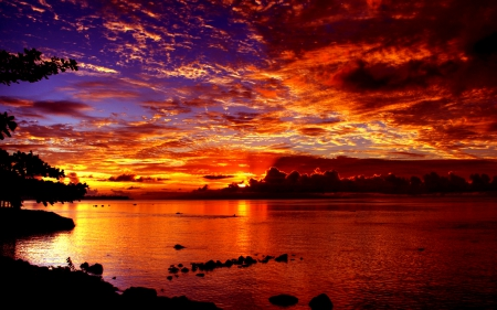 Dramatic sunset sunsets nature background wallpapers on desktop nexus image 1622472 - Dramatic wallpaper ...