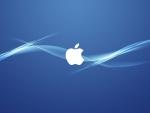 Apple macbook blue background