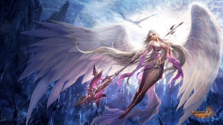 League of Angels - Fortuna - mmorpg, rpg, fantasy girl, video game, game, League of Angels, fortuna, wing, angel, sexy, girl, GTArcade, female, browser game