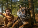 Boy and Tiger