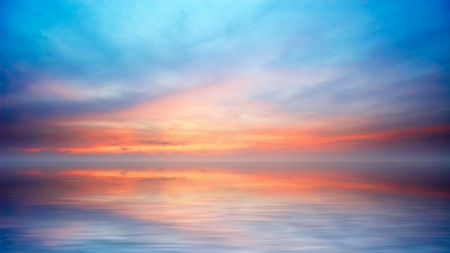 Sunset Reflection On Sea From Sky In Pastel Colors Sky Nature Background Wallpapers On Desktop Nexus Image 1623371