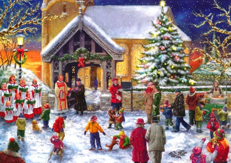 Christmas Choir.Christmas Choir Other Abstract Background Wallpapers On