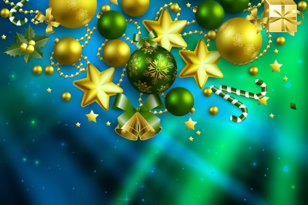 Christmas background - stars, pretty, lovely, christmas, holiday, decoration, background, beautiful, new year, winter, nice, balls