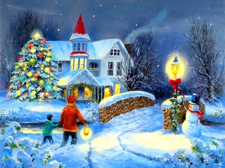 ☆Happy Home in Christmas☆ & ☆Happy Home in Christmas☆ - Winter \u0026 Nature Background Wallpapers ...
