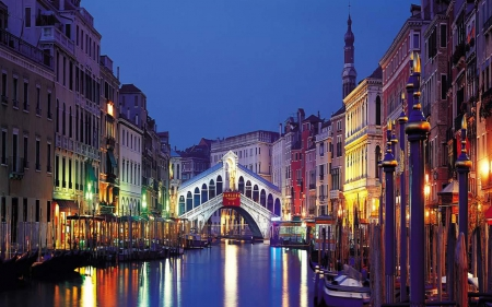 famous bridge - italia, hd, bridge, love, venise, venice, lips, aventure