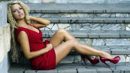 Sexy Blonde In Heels