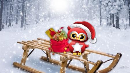 christmas owl - Owl Christmas