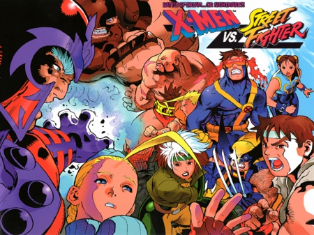X Men Vs Street Fighter Street Fighter Video Games Background
