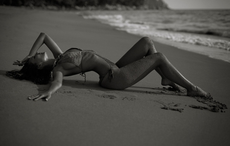 Everything You Touch.. - beach, model, body, woman, sexy