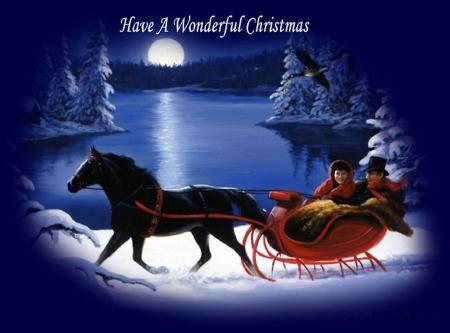 christmas sleigh horses 1920x1080 wallpaper - photo #13