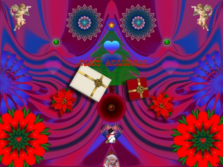 Ho Ho Ho - eye candy, Abstract, 3D, collage, fractal