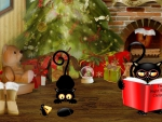 Black Cats Christmas Eve