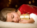 Peaceful sleep with gift
