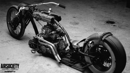 yamaha rat bike - suspension, rat bike, motorbikes, air, rust, bikers, yamaha
