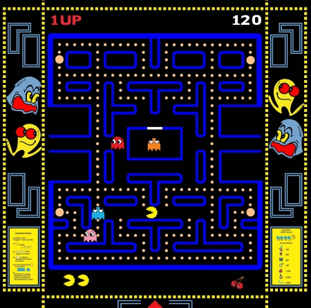Pac Attack - pac man, midway, 80s arcade games, Pac Attack, ms pacman