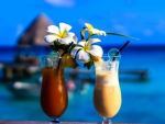 Tahitian Cocktails with Plumeria