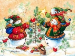 ★Snowman Family in Winter★