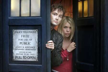 The Doctor and Rose - doctor who, bbc, david tennant, sci fi, scifi, billie piper