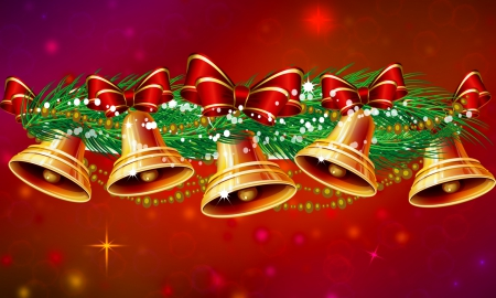 Christmas Bells Other Abstract Background Wallpapers On
