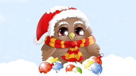 cold christmas owl - Owl Christmas