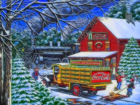 Coca Cola Yule Time Delivery Winter Nature