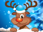 Winking Reindeer