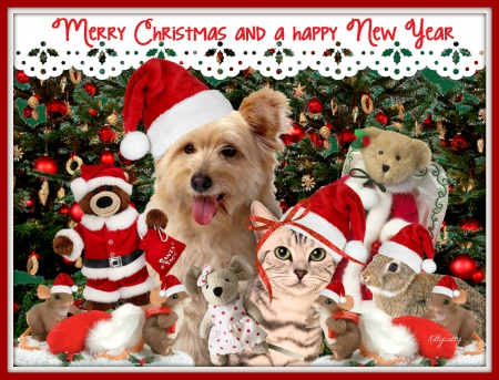 Merry Christmas Animals.Merry Christmas To Everybody Collages Abstract