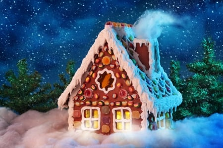 Christmas Gingerbread House Background.Gingerbread House Photography Abstract Background