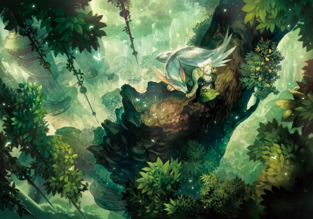 Magic forest other anime background wallpapers on - Anime forest background ...
