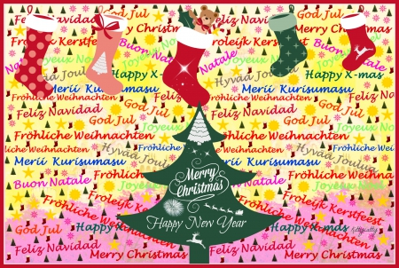 Christmas Graffiti Background.Happy Xmas To Everyone Graffiti Abstract