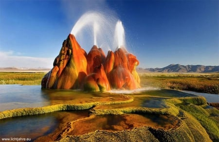 geyser - Nevada - photography, monuments, nature, Nevada, beautifu, geysers, landscape