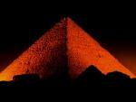 Amazing Pyramid At Night