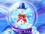 *Snowball with snowman *