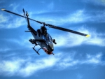 bell ah-1 attack helicopter hdr