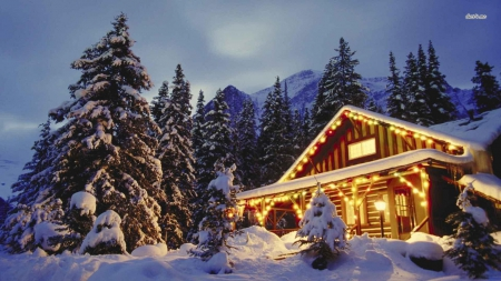 Christmas Mountain.Christmas Mountain Winter Nature Background Wallpapers