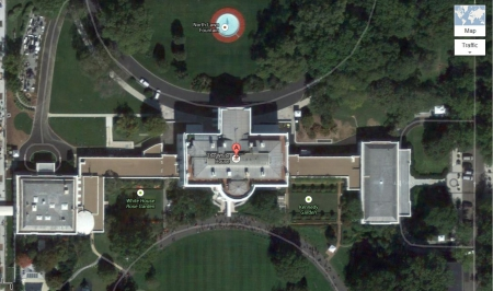 The White House From Space - The White House From Space, white house googled, white house google maps, google maps, google, the white house, googlle