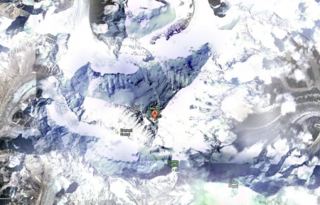 Everest From Space - mountain, google, mount everest, Everest From Space