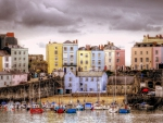 lovely tenby harbour wales in color hdr