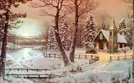 Country Christmas Background Wallpaper.Country Christmas Other Abstract Background Wallpapers