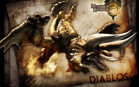 Diablos - cool, monster, diablos, hunter
