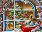 A Cardinals\\\\\' Christmas Window