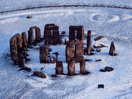 Image result for stonehenge snow