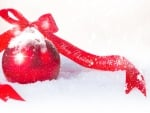 Ribbon Bow and Snow